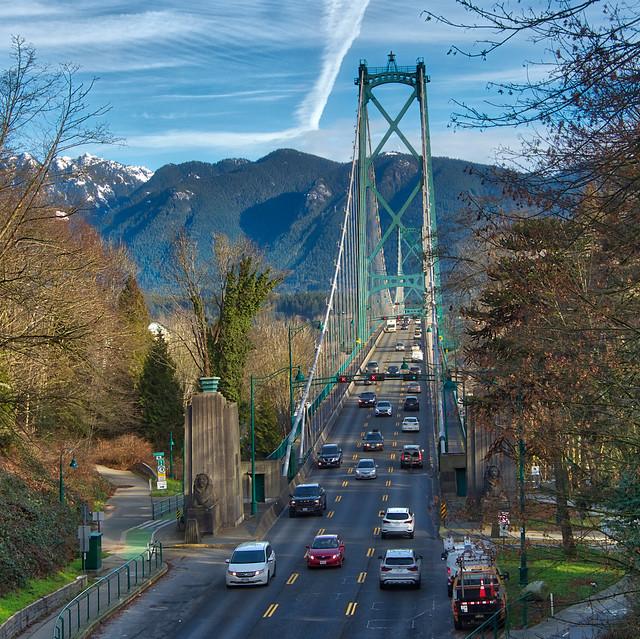 Lions Gate Suspension Bridge in Vancouver, British Columbia
