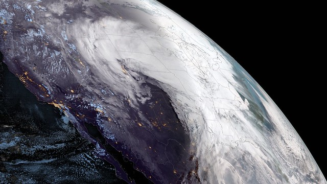 Powerful Storm System Seen by GOES West