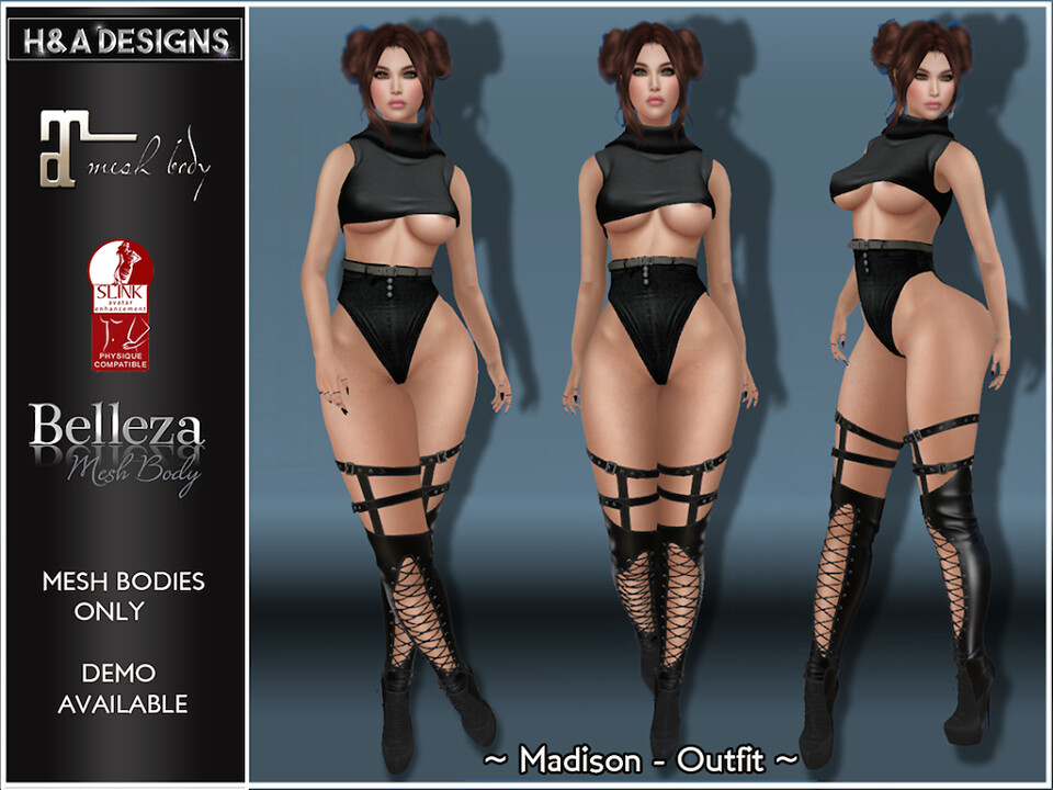 [H&A Designs]-Madison Outfit Black