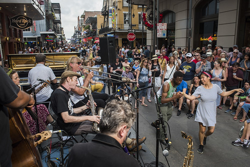 The New Orleans Jazz Vipers play French Quarter Fest day 3 on April 13, 2019. Photo by Ryan Hodgson-Rigsbee RHRphoto.com