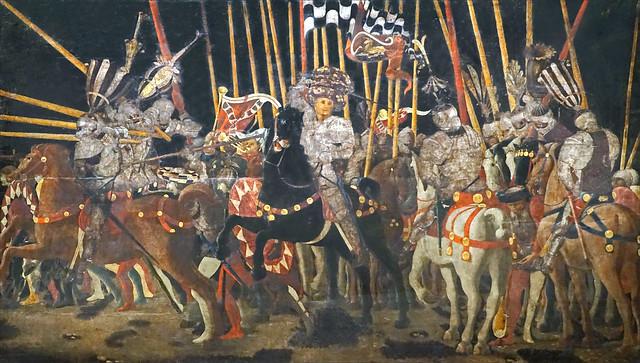 La Bataille de San Romano de Paolo Uccello (musée du Louvre, Paris)