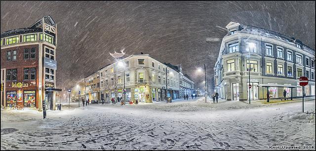 Winterscene in Kristiansand, Norway.