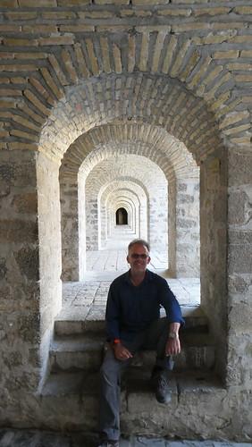 asia europe azerbaijan sheki town urban architecture dana iwachow dragoman silk road trip overland september 2018 shaki palace karavanserai steve
