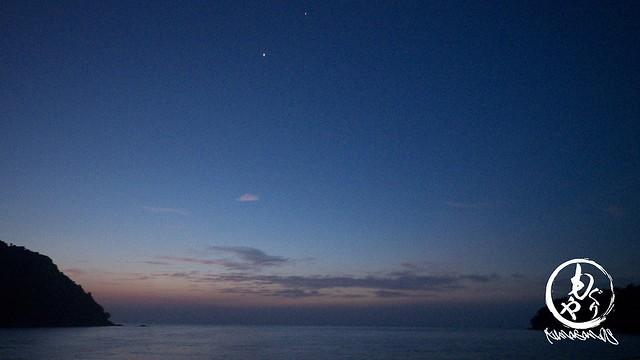 朝焼けです♪上の方に見えるのは金星。
