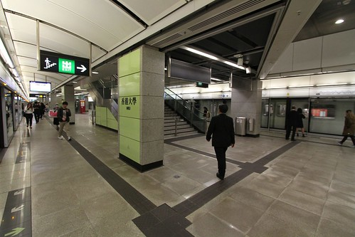 Platform level at HKU Station
