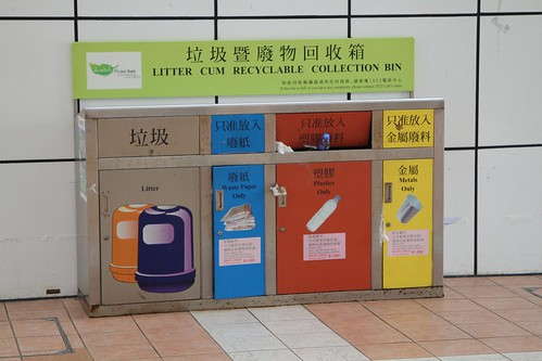 'Litter cum Recyclable Collection Bin' at Kowloon Park