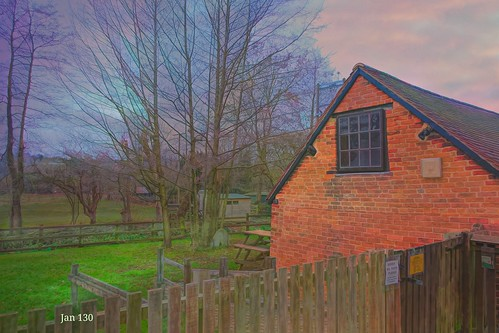 jan130 newhallmill building structure watercolour topazstudio fence history interestingmill digitalpainting watermill newhallvalley birmingham englanduk texture fencefriday