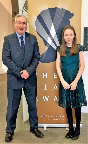 At Diana Award presentation with Grace Warnock   by Iain Gray MSP