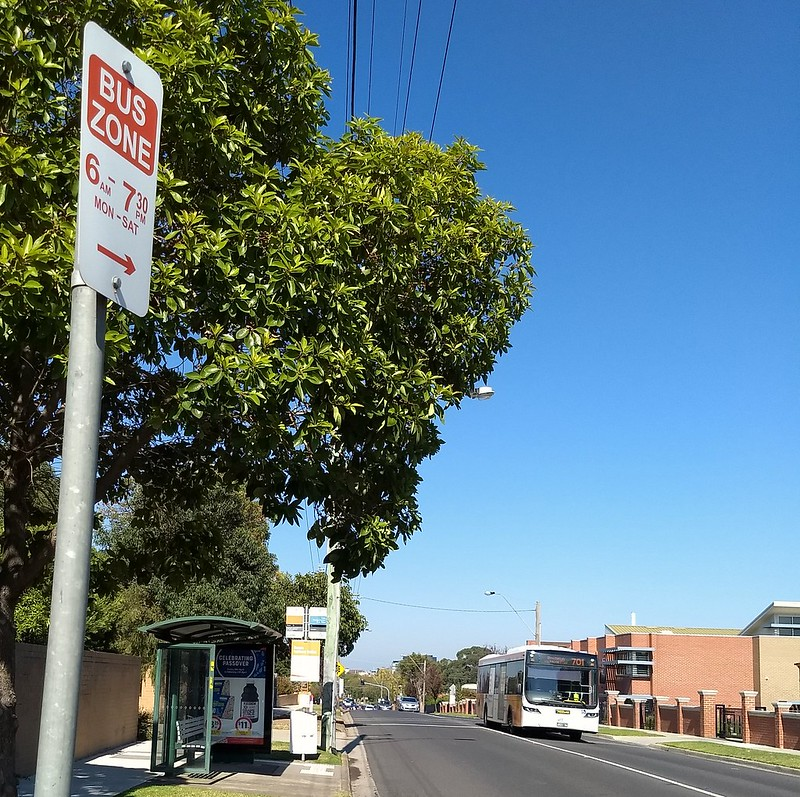 Bus zone in Jasper Road, Bentleigh (Patterson)