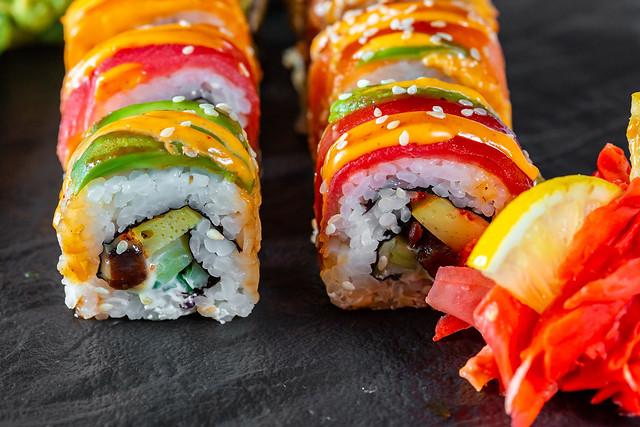 Sushi set close-up