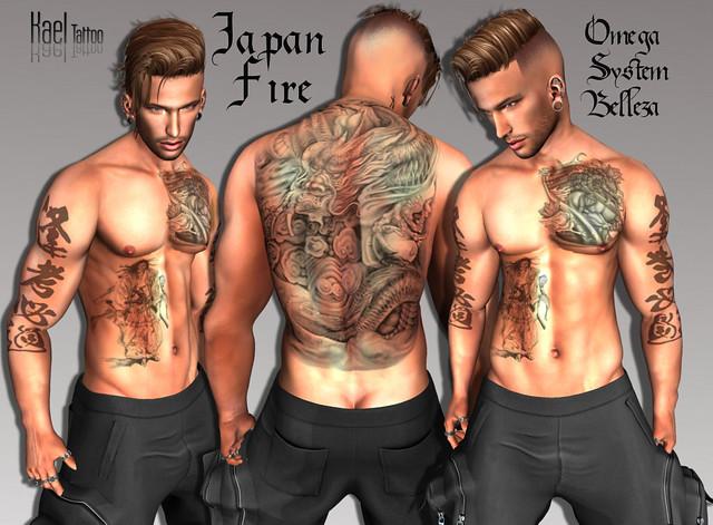 :. Kael .: Tattoo Japan Fire