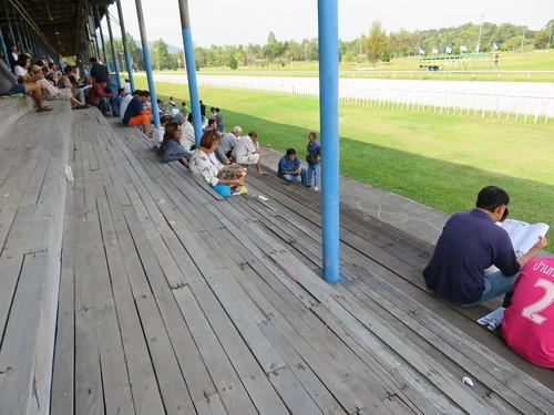 チェンマイ競馬場の観覧席の床板