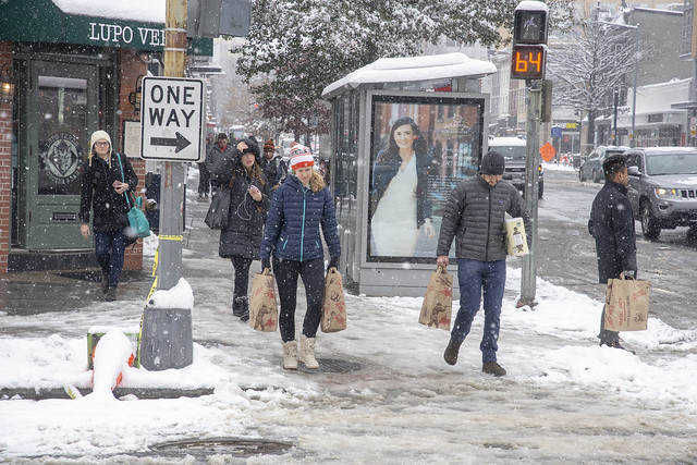 Snow in the city - 14th Street Corridor