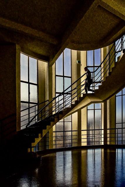 Lyon - Escalier de l'ancien garage Citroen (1930/32)