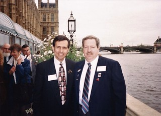 Dave Houle & Jim Duval on the Terrace of the House of Commons (photo courtesy of David W Houle) | by Sherlock Holmes Society of London