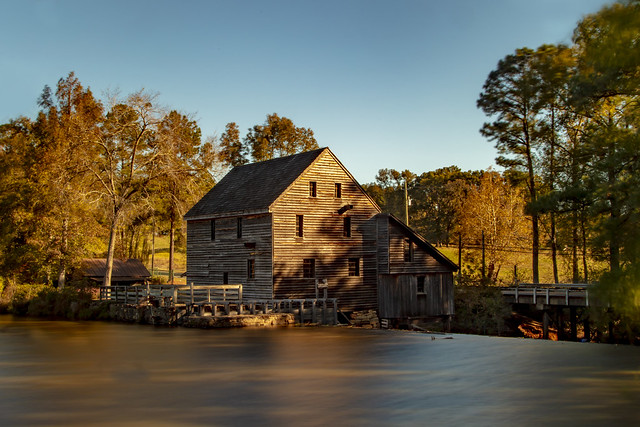 Yates Mill  in the fading light.