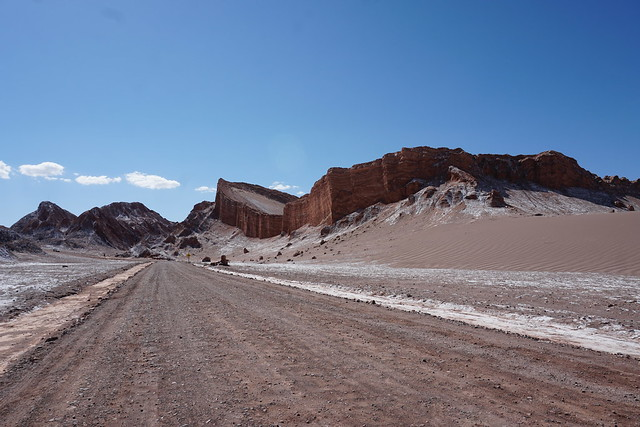 The Amphitheater, the Valley of the Moon (Valle de la Luna), San Pedro de Atacama, the Atacama Desert, Chile.