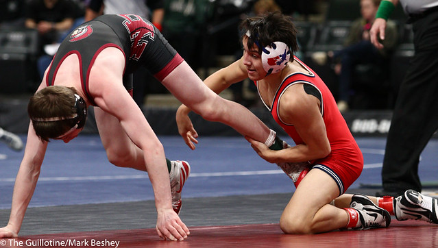 120AAA 3rd Place Match - Nic Cantu (Albert Lea Area) 41-10 won by decision over Nick Novak (New Prague) 48-4 (Dec 2-1) - 190302cmk0036