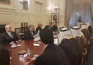 Συνάντηση ΥΠΕΞ Γ. Κατρούγκαλου με Υπουργό Οικονομικών Κουβέιτ, Δρ. Falah Al-Ηajraf (Αθήνα, 15.03.2019)