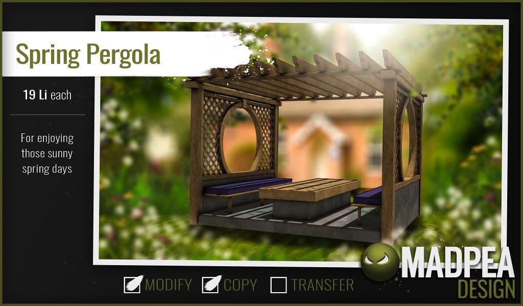 MadPea Easter Calendar – Day 6 – Spring Pergola!