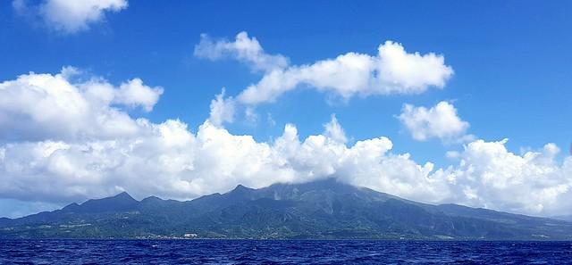 Montagne Pelée from sea Martinique