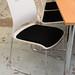 White visitors chair black fabric seat E120+vat new stock
