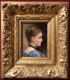 Gustave Jean Jacquet, The Head of a Girl, Mabee-Gerrer Museum of Art | by gmeador