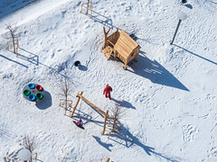 Снежный двор сверху