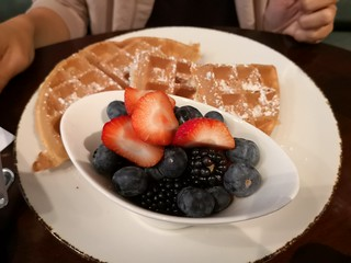 Waffles and berries | by A. Wee
