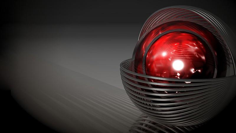 Обои графика, шар, красный, форма картинки на рабочий стол, фото скачать бесплатно