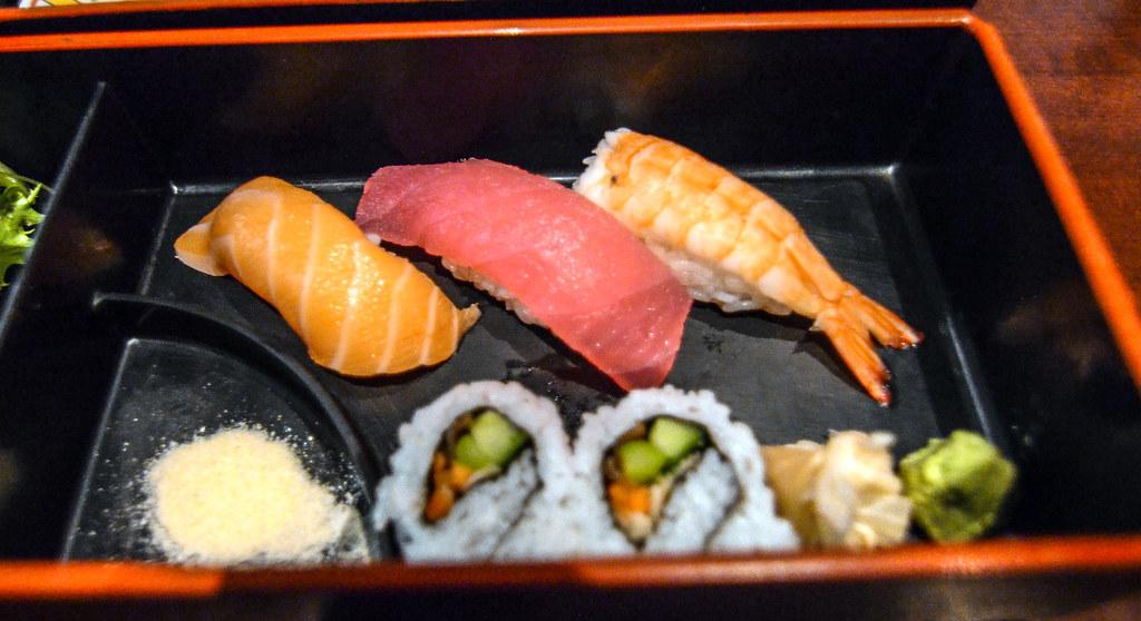 Tokyo Dining sushi bento box Epcot
