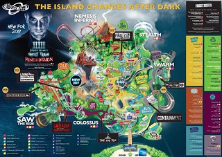 Thorpe Park Fright Nights 2017 Park Map | by ThemeParkMedia