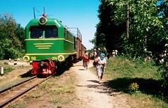 Südzufuhrbahn / Southern Feeder Railway: TU2-274 with the Haivoron-Rudnytsia market train, at Sherbakovo.