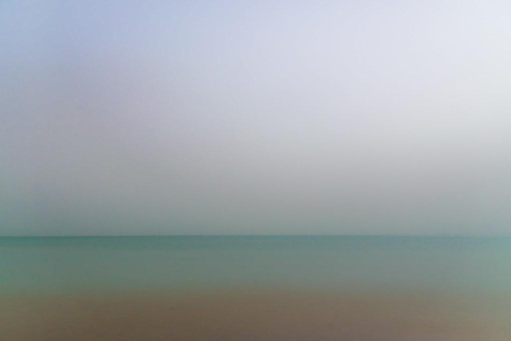 The Dead Sea, looking from Israel to Jordan.