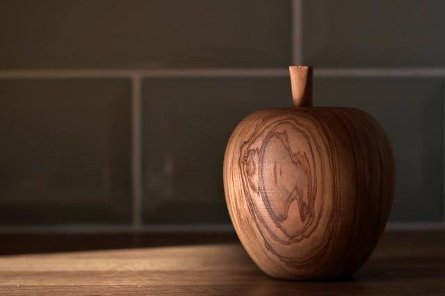 Olive wood apple....