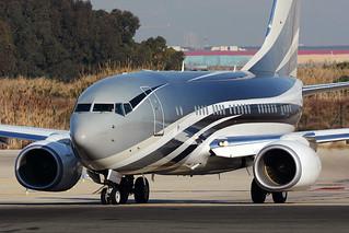 BOEING 737-700 BBJ VP-CZW BCN/LEBL