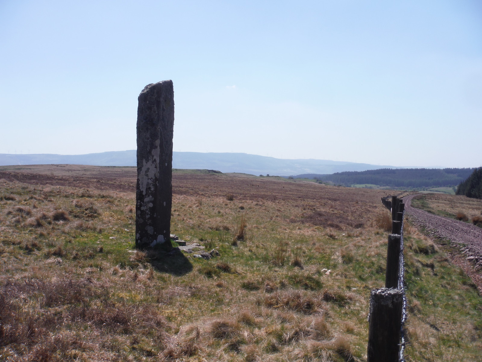 Maen Madoc, by Sarn Helen Roman Road SWC Walk 307 - Fforest Fawr Traverse (Craig y Nos to Llwyn-y-celyn) [Beacons Way Route]