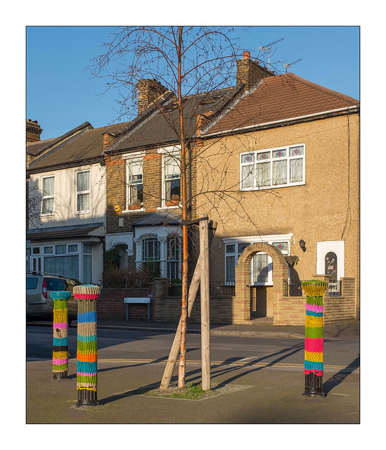 Yarn Bombing, East London, England.