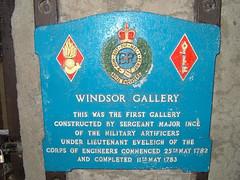 Windsor Gallery Plaque