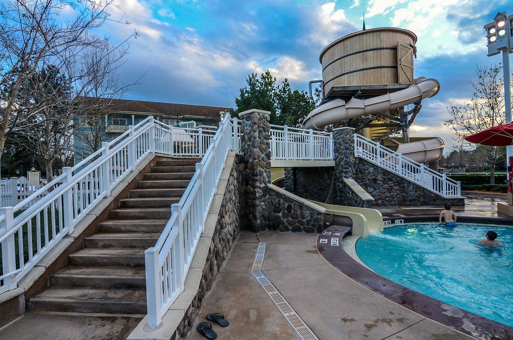 Saratoga Springs pool slide day