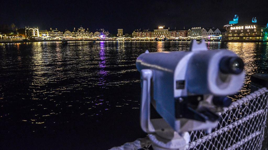 Telescope Boardwalk night
