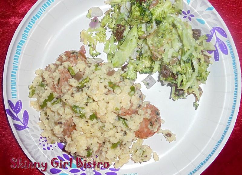 Photo: Cauliflower Rice Risotto with Chicken Sausage