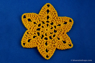 Six pointed Star Crochet Motif | by elsa.blueraindrops