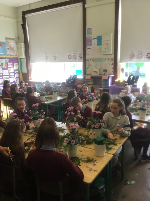 Mother's Day Flower Arranging