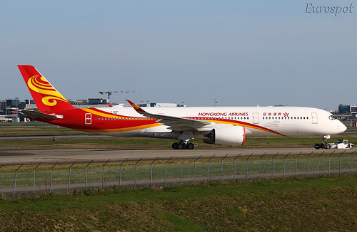 F-WZNC Airbus A350 Hongkong Airlines   by @Eurospot