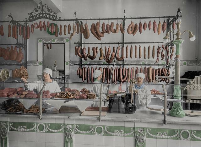 A butcher´s shop in Helsinki (1927)