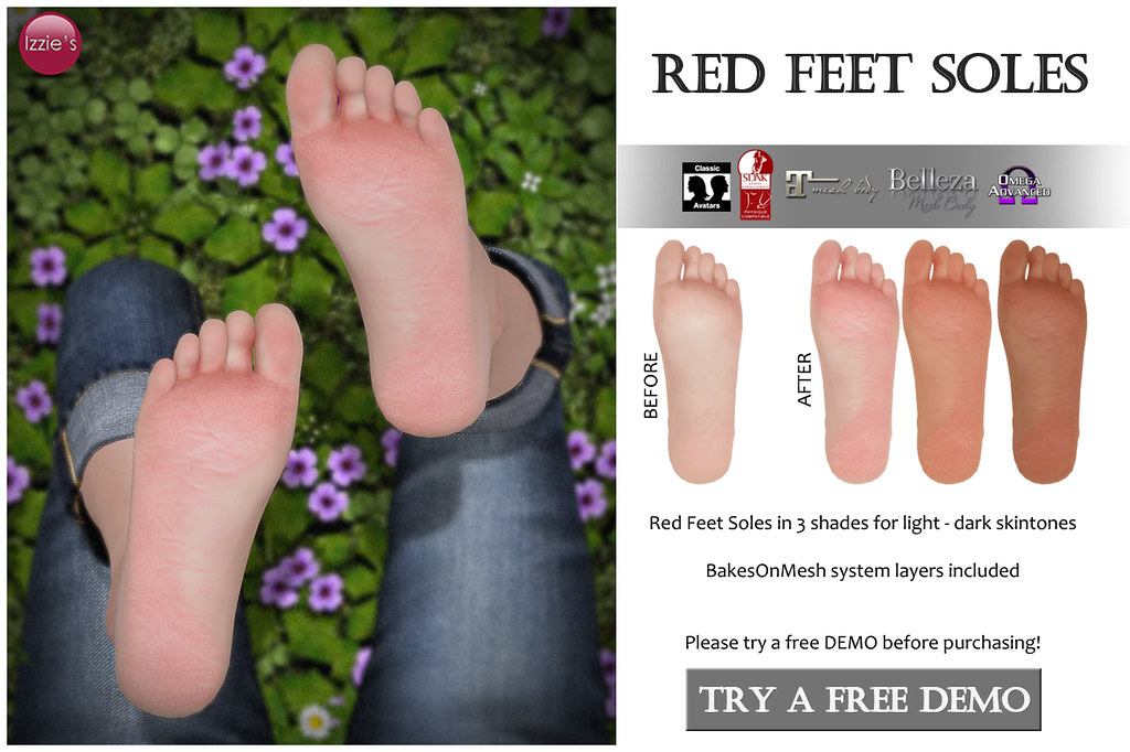 Red Feet Soles for FLF