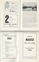 Met de NACO reist men prettig; propaganda-uitgave 1950 - guide to Nederlandse Auto Car Onderneming ; pages 24/5 and titles