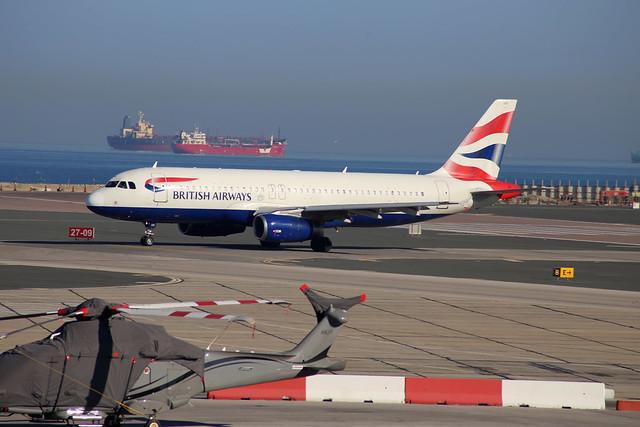 British Airways Airbus A320 at Gibraltar