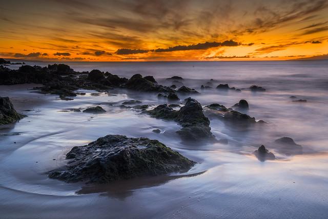 Sunset at Kamaole Beach Park II, Maui
